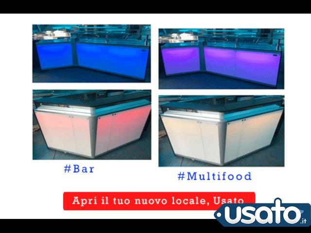 Banco bar o multifood con luci led automatiche
