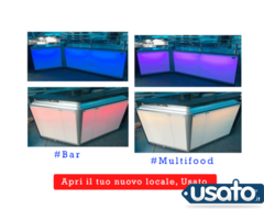 Banco bar o multifood con luci led automatiche