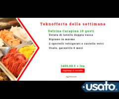 Vetrina gelato Carapina 10 gusti